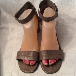 Vince croc embossed sandals